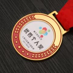 金属奖牌小奖章定制定做金银铜奖牌优秀员工奖杯奖牌奖品挂牌制作