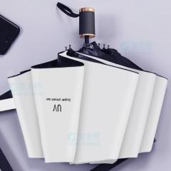 定制UV防晒伞黑胶双层防晒雨伞