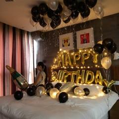 生日气球成人布置套餐派对装饰铝膜气球浪漫情侣宴会活动装饰气球