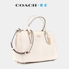 【积分商品】COACH/蔻驰女士SURREY CARRYALL手袋十字纹白色
